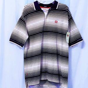 Ecko Unlimited Shirts - Ecko Unltd XL Black&White striped polo 🆕🐱🏍nwot